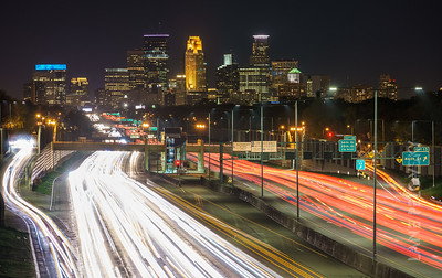 Downtown Minneapolis Trafficscape