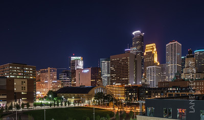 Downtown Minneapolis on a beautiful night