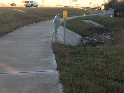 No widening, riprap slope for drainage improvements