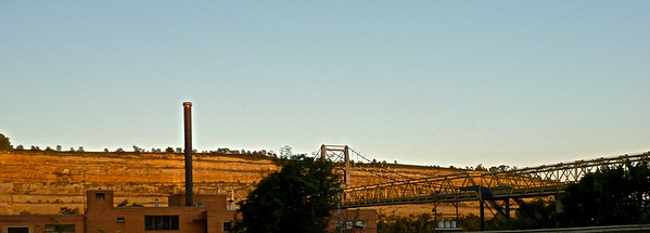 These bridges span the Ohio River between West Virginia and Ohio.