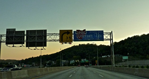 Somehow I kept going from Pennsylvania to West Virginia to Ohio about every two miles!