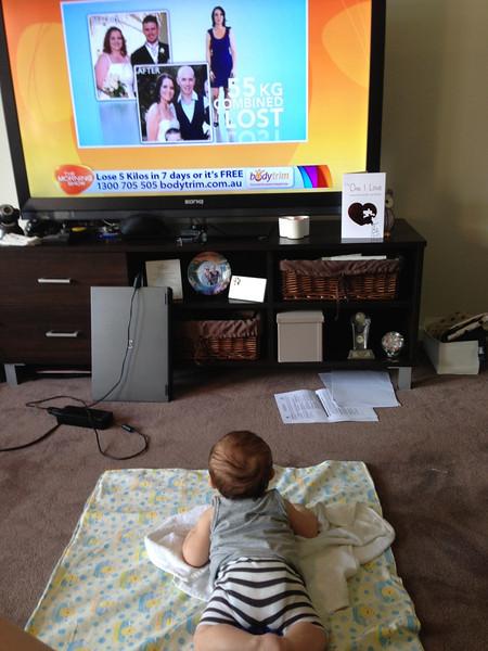 I love watching TV