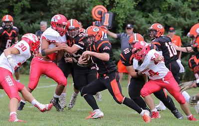 Tyngsboro High School vs Gardner High School Football, September 8, 2018