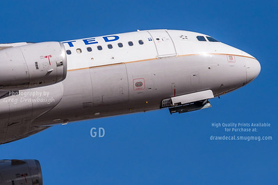 United A320 Nose
