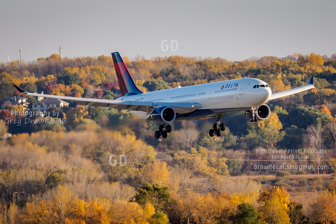 Delta A330 Fall Colors
