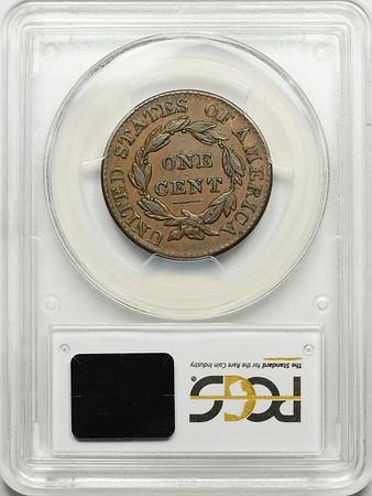 1826 CENT - CORONET PCGS VF35 CAC Reverse