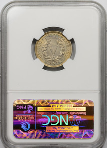 1912 FIVE-CENT PIECE - LIBERTY HEAD, CENTS NGC MS63 CAC Reverse
