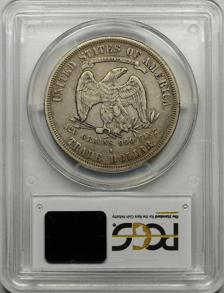 1878 S TRADE DOLLAR PCGS VF35 CAC Reverse