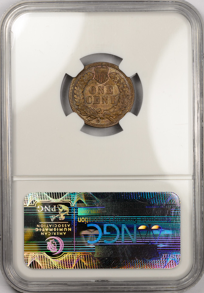 1907 CENT - INDIAN HEAD, BRONZE NGC MS63 BROWN CAC Reverse