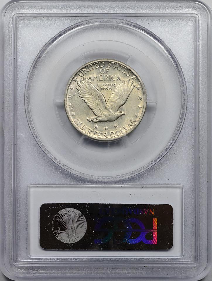 1930 QUARTER DOLLAR - STANDING LIBERTY, TYPE 2 PCGS AU58 CAC Reverse