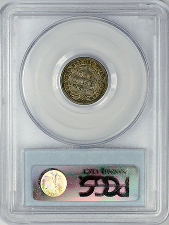 1850 DIME - SEATED LIBERTY, STARS OBVERSE PCGS XF40 CAC Reverse