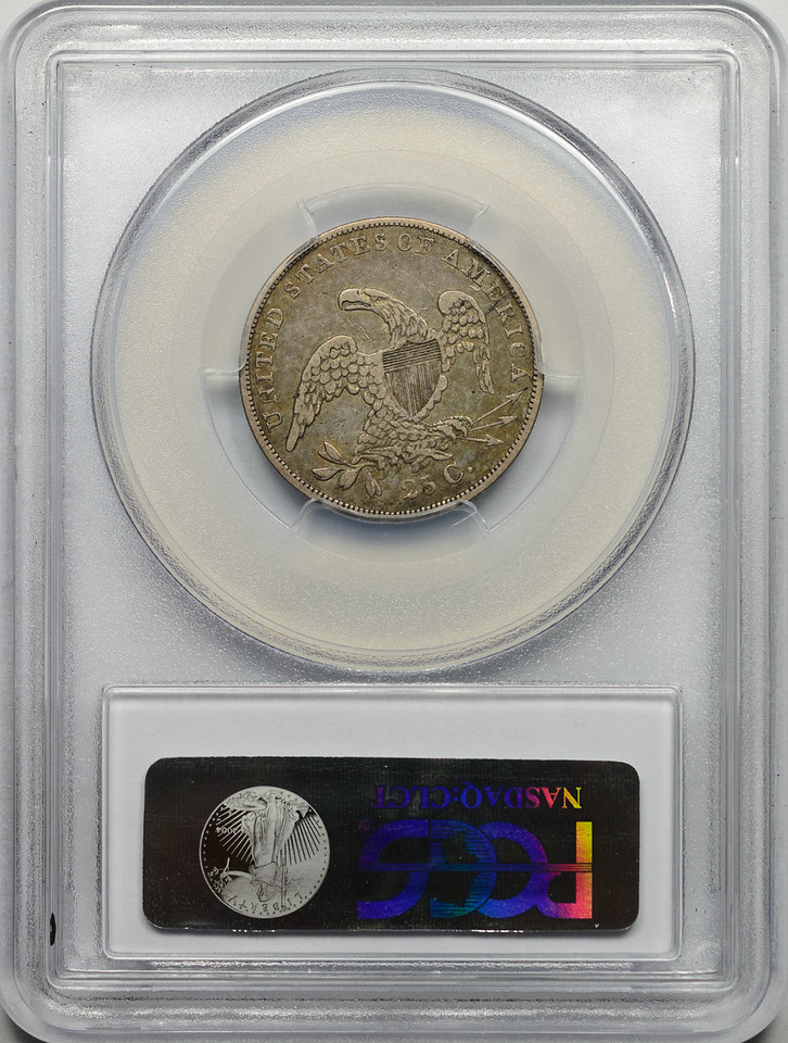 1836 QUARTER DOLLAR - CAPPED BUST, SMALL SIZE PCGS VF30 CAC Reverse