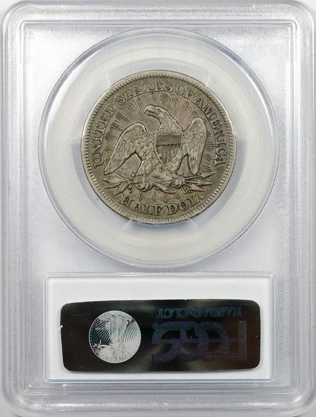 1853 HALF DOLLAR - SEATED LIBERTY, ARROWS & RAYS PCGS XF40 CAC Reverse