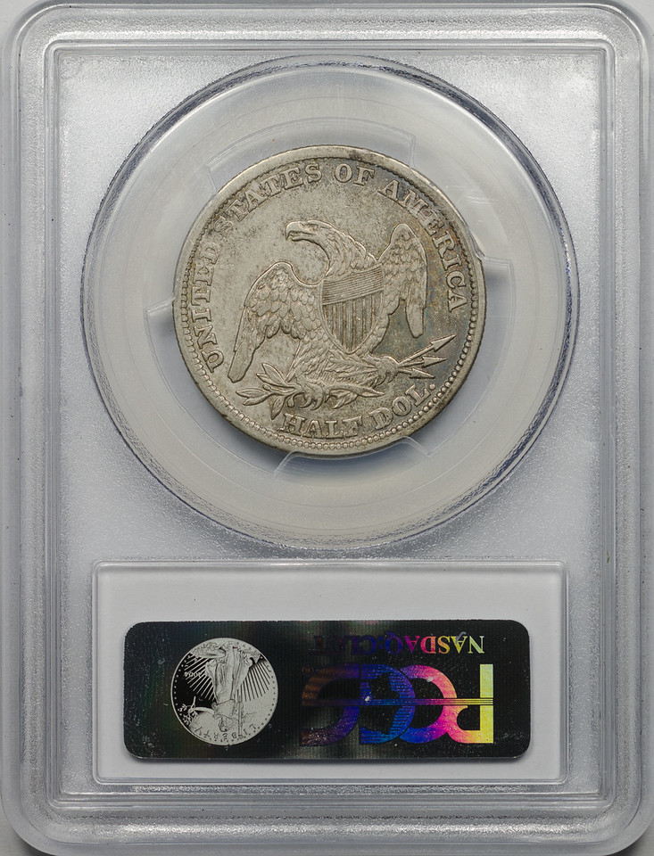 1838 HALF DOLLAR - CAPPED BUST, REEDED EDGE PCGS XF45 CAC Reverse
