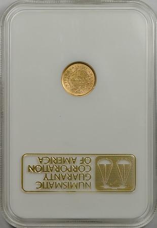1852 GOLD DOLLAR TYPE 1 NGC AU55 CAC gold Reverse
