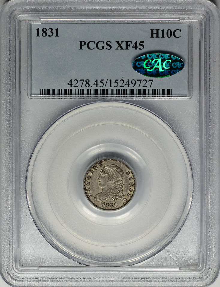 1831 HALF DIME - CAPPED BUST PCGS XF45 CAC Obverse