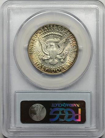 1964 HALF DOLLAR - KENNEDY, SILVER PCGS MS65 Reverse