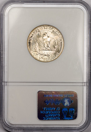 1942 QUARTER DOLLAR - WASHINGTON, SILVER NGC MS66 CAC Reverse