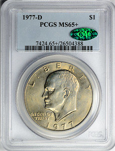 1977 D DOLLAR - EISENHOWER CLAD PCGS MS65 + CAC Obverse