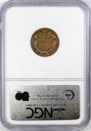 1857 CENT - FLYING EAGLE NGC XF45 CAC Reverse