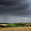 Rain over the Wiltshire Downs