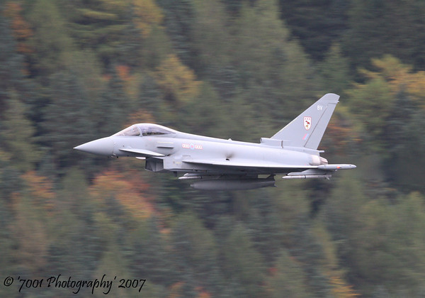 ZJ910/'BV' (29(R) SQN marks) Typhoon F.2 - 16th October 2007.