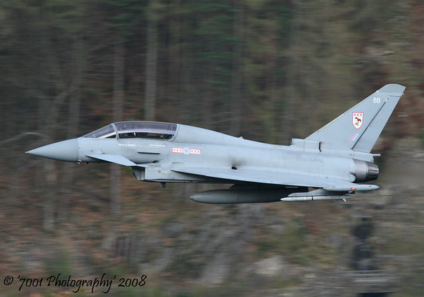 ZJ802/'BB' (29(R) SQN marks) Typhoon T.1 - 16th April 2008.