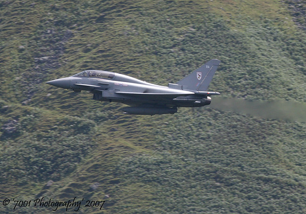 ZJ803/'BA' (29(R) SQN marks) Typhoon T.1 - 9th August 2007.