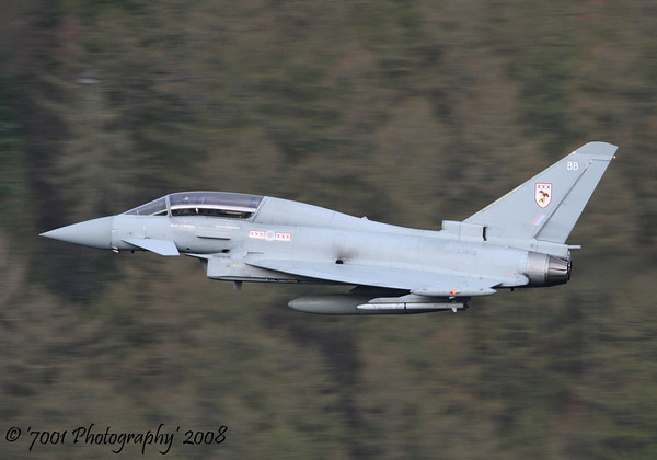 ZJ802/'BB' (29(R) SQN marks) Typhoon T.1 - 16th April 2008.