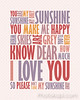 You are My Sunshine - Pinks