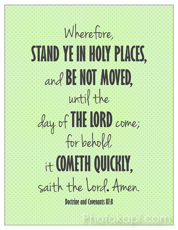 Stand Ye In Holy Places - Green Print