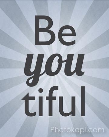 Be You tiful - Grey