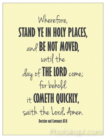 Stand Ye In Holy Places - Yellow Print