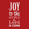 Joy to the World | Christmas Carol | Red and White