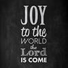 Joy to the World | Christmas Carol | Chalkboard Style