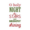 O Holy Night | Christmas Carol | Green and Red