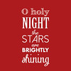 O Holy Night | Christmas Carol | Red and White