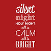 Silent Night | Christmas Carol | Red and White
