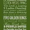 12 Days of Christmas | Christmas Carol | Green and White