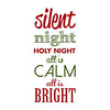 Silent Night | Christmas Carol | Green and Red