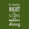O Holy Night | Christmas Carol | Green and White