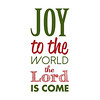 Joy to the World | Christmas Carol | Green and Red