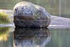 Rocks in Lillsjön, low water level, Tyresö Stockholm