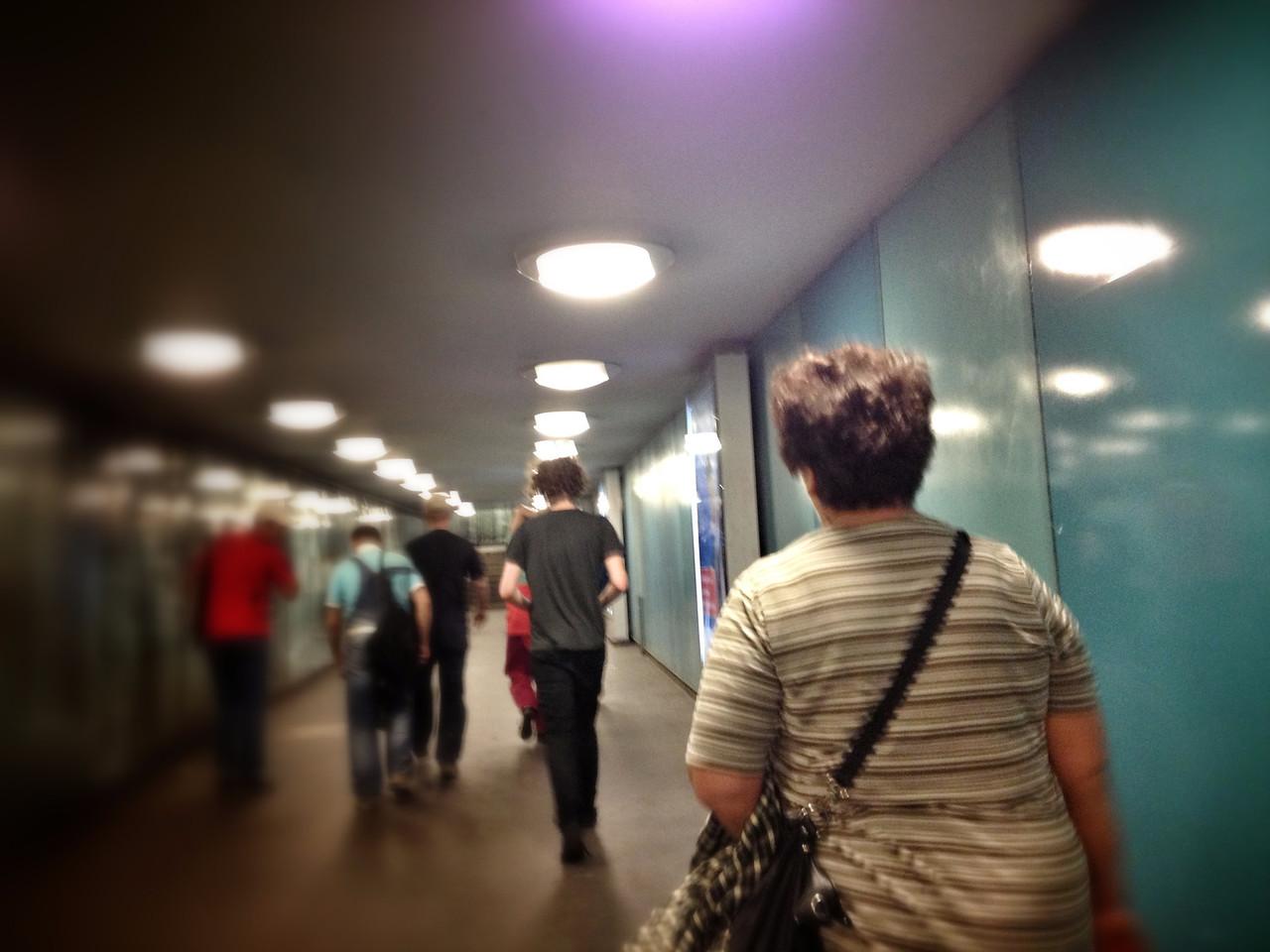 U-bahn resenärer Berlin