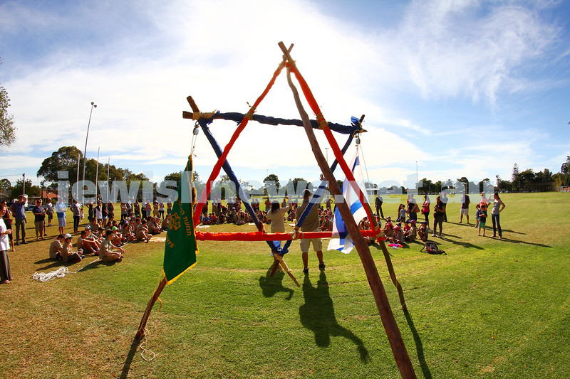 22-3-15. Tzofim Melbourne held their first Misdar (scout ceremony) at the E .E Gunn Reserve in Ormond. Photo: Peter Haskin