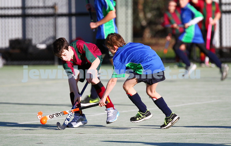 19-7-15. Maccabi Under 14 Hockey drew 1 -1 with Melbourne High School. Photo: Peter Haskin