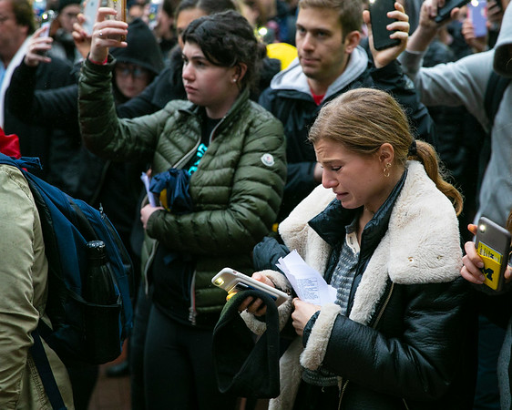 Rachel Rollman, a freshman from Squirrel Hill attends the vigil held at the University of Michigan on October 28, 2018.