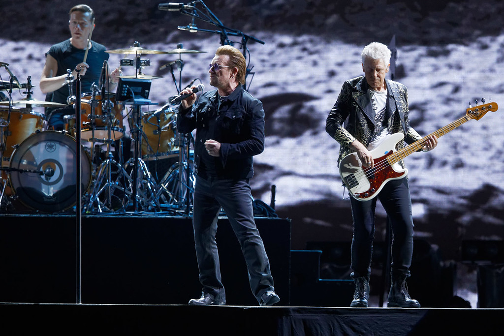 . U2  live at Ford Field on 9-3-17.  Photo credit: Ken Settle