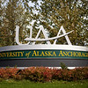 "The University of Alaska sign in Anchorage Monday, Sept. 17, 2012. (Erin Hooley/University of Alaska Anchorage Office of Advancement)  <div class=""ss-paypal-button"">091712 Campus Fall 7.jpg</div><div class=""ss-paypal-button-end""></div>"