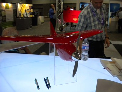 red flying wing uav
